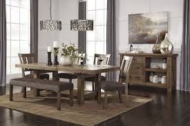 Dining Room Table And Benches Pueblosinfronterasus - Ashley furniture dining table with bench