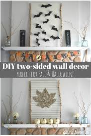 halloween wall art leaf string and bat wall art a two for one fall decor u2022 our house