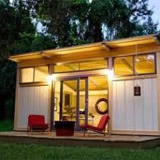Backyard Office Prefab by Inoutside Creates A Small Backyard Office Architecture
