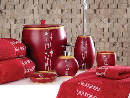red bathroom accessories bathroom decor
