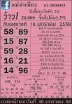เลขเด็ด 16/04/58 หวยเด็ดงวดนี้