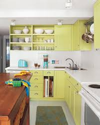 kitchen gorgeous lime green galley kitchen with repainted