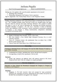 Mba Sample Resume by Extraordinary Mba Marketing Fresher Resume Sample 33 With