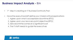 Business Continuity And Disaster Recovery Plan Template Disaster Recovery Planning Step 1 Business Impact Analysis Youtube