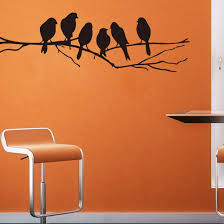 Home Decor Birds by Amazon Com Wall Stickers Decal Removable Black Bird Tree Branch