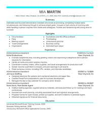 Summary Sample Resume by Sample Resume Format For Administrative Assistant Gallery