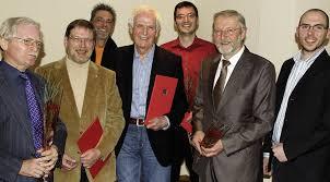 Von links: Heinrich Riepe, Günter Kraus, Jürgen Schuhmann, Arnold Becker und Sebastian Gartner. Foto: susanne kanele. BAD SÄCKINGEN (ska). - 43008561