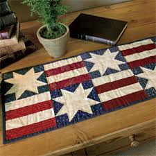 Quilted Table Runners by Stars U0026 Bars Patriotic Table Runner Quilt Pattern