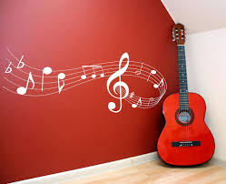 Music Home Decor by Music Note Scale Vinyl Lettering Wall Words Quotes Graphics Decals