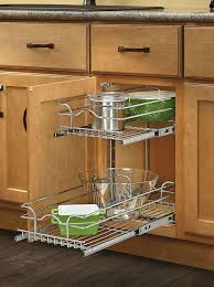 Kitchen Cabinets With Pull Out Shelves by Amazon Com Rev A Shelf 5wb2 0918 Cr Base Cabinet Pullout 2 Tier