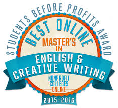 Best Online Master     s in English  amp  Creative Writing  Students Before Profits Award