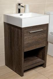 moscow 500 floor standing bathroom vanity unit dark wood