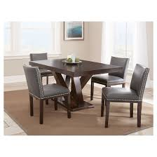 Steve Silver Dining Room Furniture 5 Piece Whitney Dining Table Set Wood Brown Gray Steve Silver