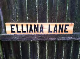Personalized Signs For Home Decorating Personalized Street Name Cedar Carved Sign U2013 The Carving Company