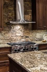 Kitchen Wallpaper Backsplash Kitchen Painted Faux Brick Backsplash With Wood Countertops