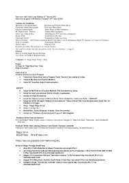 Entertainment Industry Resume Writer Professional Exle