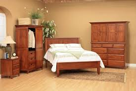 Single Bedroom Furniture Home Decoration Alder Shaker Bedroom Furniture Honey Storage Bed