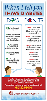 The Dos and Don     ts of Supporting Someone with Diabetes   Speaking     The Joslin Blog   Joslin Diabetes Center