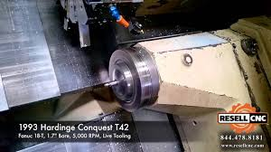 1993 hardinge conquest t42 cnc lathe youtube