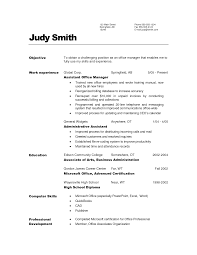 career objective examples for administrative assistant   Basic     Robert Half Resume Sample   objective for resume receptionist