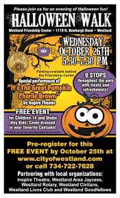 halloween walk events in westland city of westland mi