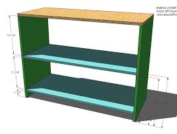Wood Shelf Plans Free by Ana White Build Your Own Office Wide Bookcase Base Diy Projects