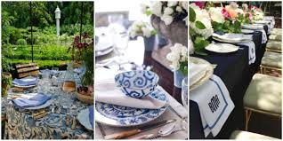 Black Blue And Silver Table Settings Blue And White Dishes And Table Settings Tablescapes And