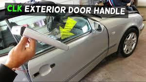 mercedes clk w208 exterior door handle removal replacement clk230
