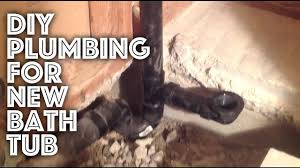 bathtub plumbing new installation youtube