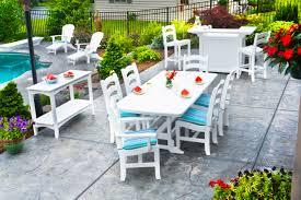 White Resin Wicker Outdoor Patio Furniture Set - furniture stunning polywood furniture for outdoor furniture ideas