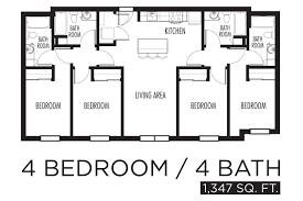 4 bedroom floor plan four bedroom mobile homes l 4 bedroom floor
