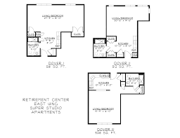 East Wing Floor Plan by Nottingham Village Retirement Center Continuing Care Community