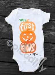 my first halloween onesie personalized newborn halloween pumpkin