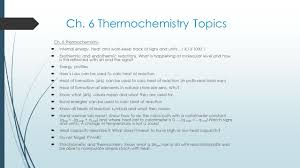 What Is In Law Unit Ch 6 Thermochemistry Thermochemistry Unit 2 Exam Analysis 20
