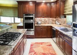 Kitchen Backsplash Cherry Cabinets by Bold Kitchen Backsplash Tile Downingtown Pa Maclaren Kitchen