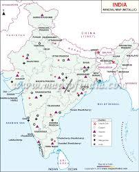 India Map Quiz by Metallic Minerals In India Metallic Minerals Map