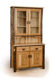 rustic hickory 2 door buffet and hutch china cabinet available