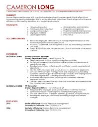 Best Resume Header Format by Best Human Resources Manager Resume Example Livecareer