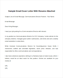 Example Of Email With Resume Attached by Cover Letter On Email Template Best Revise My Essay Services
