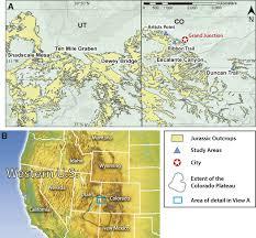 Southwest Colorado Map by Middle Jurassic Landscape Evolution Of Southwest Laurentia Using