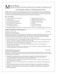 Customer Service Rep Resume  customer service representative     happytom co