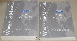 2009 ford mustang factory service shop repair manual 2 volume set