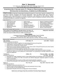 Imagerackus Sweet Sampleresumebcjpg With Likable Electrician Resume Example With Archaic Financial Resume Also Resume Sample Format