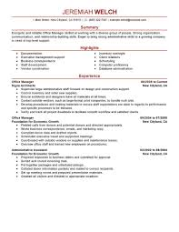 Sample Resume Management Position Best Office Manager Resume Example Livecareer