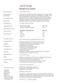 Cover Letter For Resume Examples For Students by Sample Receptionist Cover Letter Job Application Resume Cv