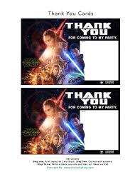 Printable Invitation Card Stock Free Star Wars The Force Awakens Invitation U0026 Thank You Card