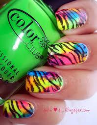 neon animal print nail tutorial color society blogcolor society blog