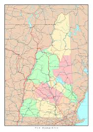 Map Of The Usa by Large Detailed Administrative Map Of New Hampshire State With