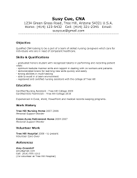 Resume Examples  Example of CNA Resume Nursing Assistant with     Rufoot Resumes  Esay  and Templates