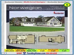 norwegian rochester modular home cape cod multi level plan price